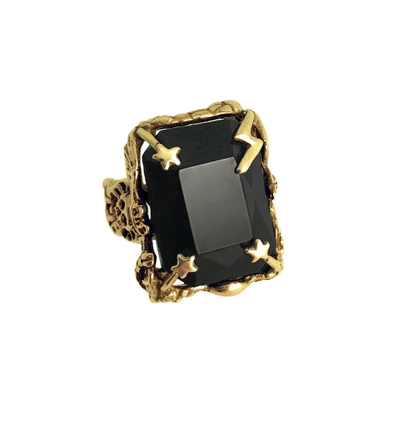 Bowie Ring in Black- Ready to Ship