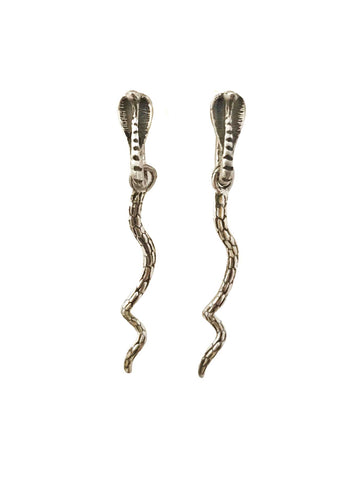 Crescent Moon Earrings with spikes