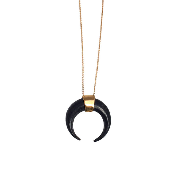 Crescent Necklace White - Anomaly Jewelry