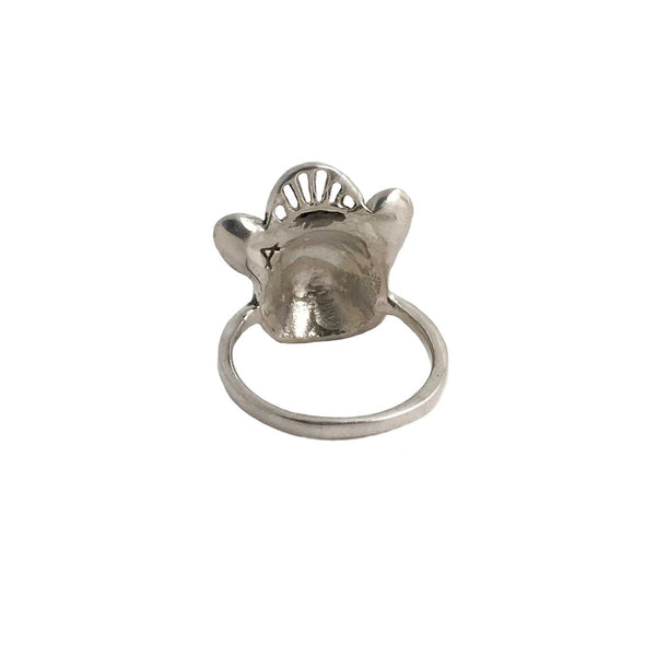 Crowned French Bulldog Ring - Anomaly Jewelry
