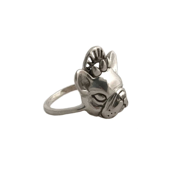 Crowned French Bulldog Ring