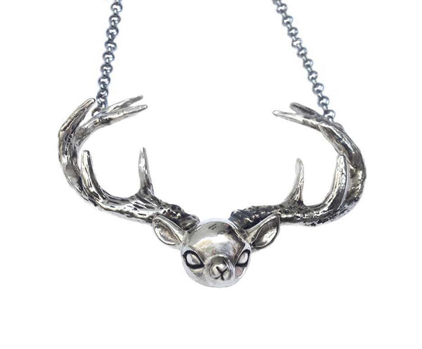 Antlered Deer Necklace - Anomaly Jewelry