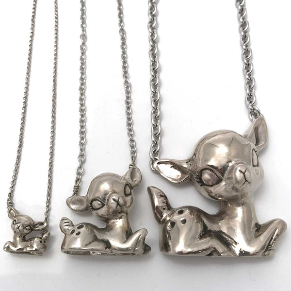 Sitting Deer Necklace Medium