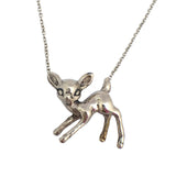 Small Standing Deer Necklace - Anomaly Jewelry
