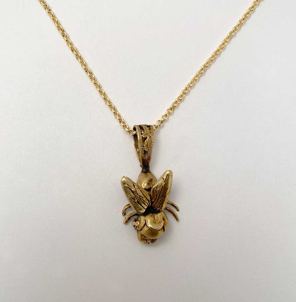 Fly Girl Necklace gold tone