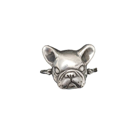 Flower Garland French Bulldog Necklace in Gold