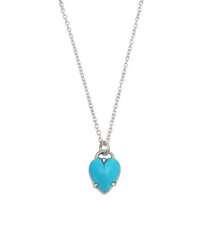 Heart Necklace Opal