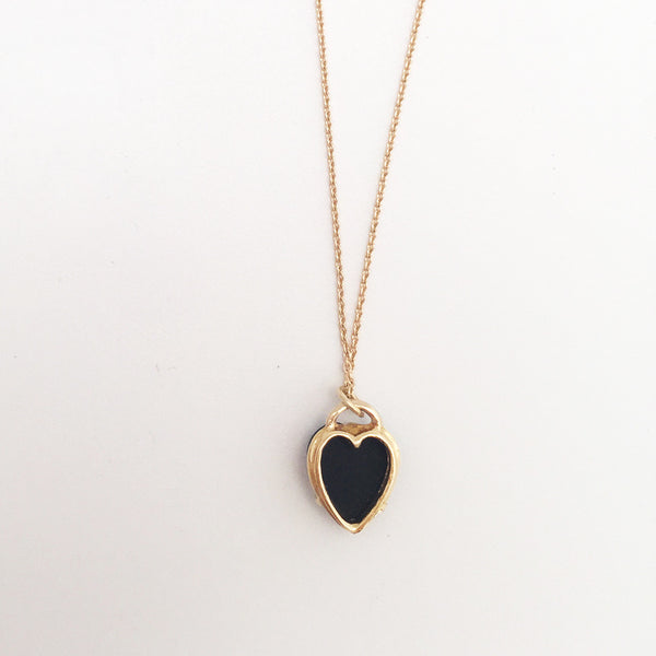 Heart Necklace Onyx - Anomaly Jewelry
