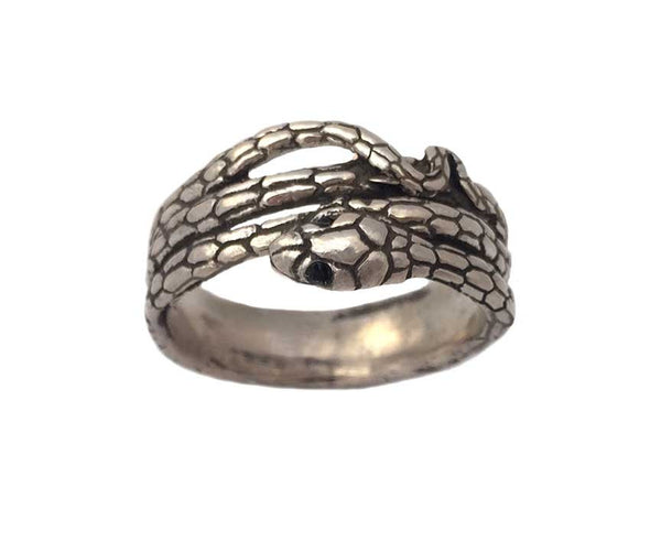ring skin il etsy rings silver wedding market band white snake honeycomb black