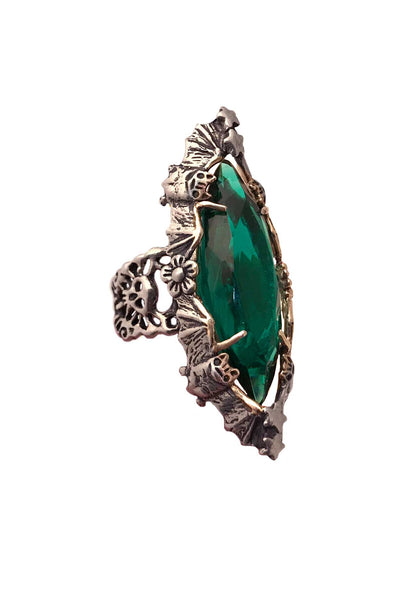 Marquise Ring Emerald- Ready to Ship