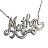 Mother in Script Necklace - Anomaly Jewelry