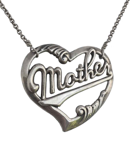 Mother in Script Necklace