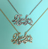 Fucker Script Necklace- Ready to Ship