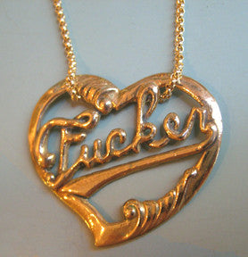 Fucker Heart Necklace - Anomaly Jewelry