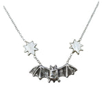 Bat with Stars Necklace