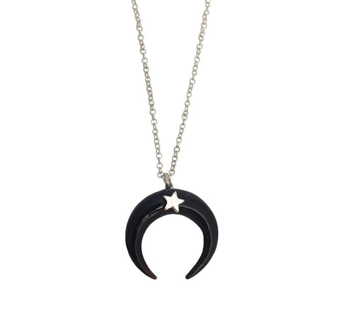Cornucopia Necklace Wide Onyx