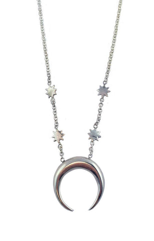 Crescent and Stars Necklace