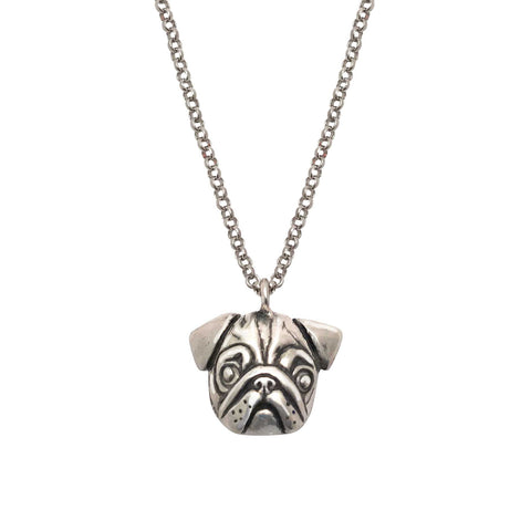 French Bulldog Necklace Crowned in Gold