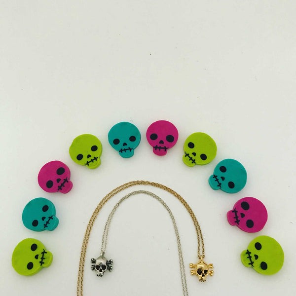 Skull Necklace- Ready to Ship