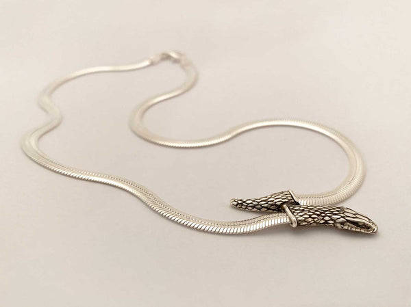 Snake Chain Necklace in sterling silver