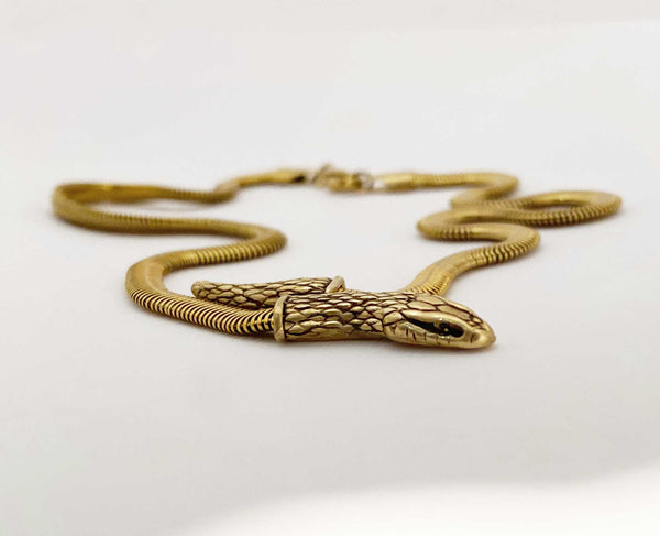 Snake Chain Necklace in gold- Ready to Ship