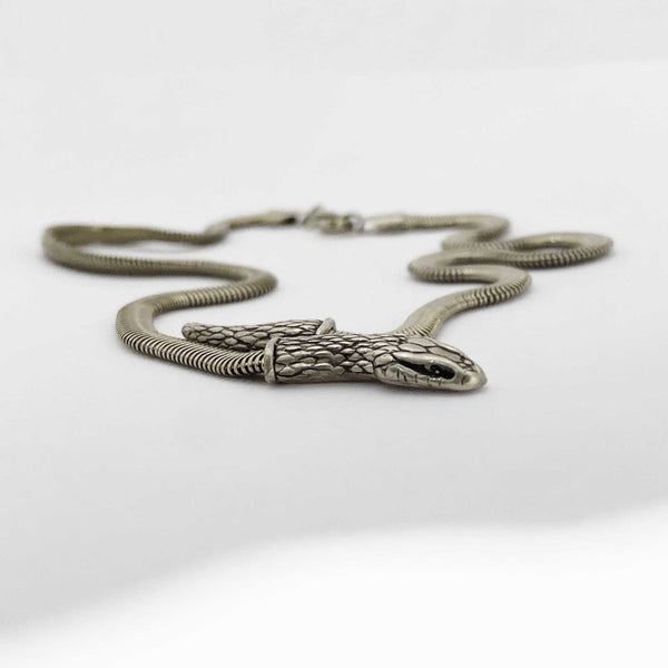 Snake Chain Necklace in silver- Ready to Ship