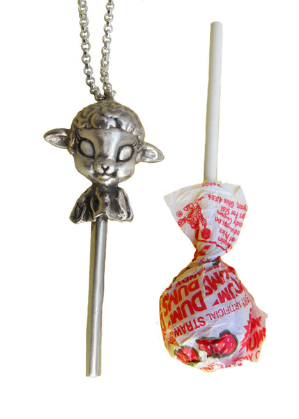 Lamb Lollipop Necklace - Anomaly Jewelry