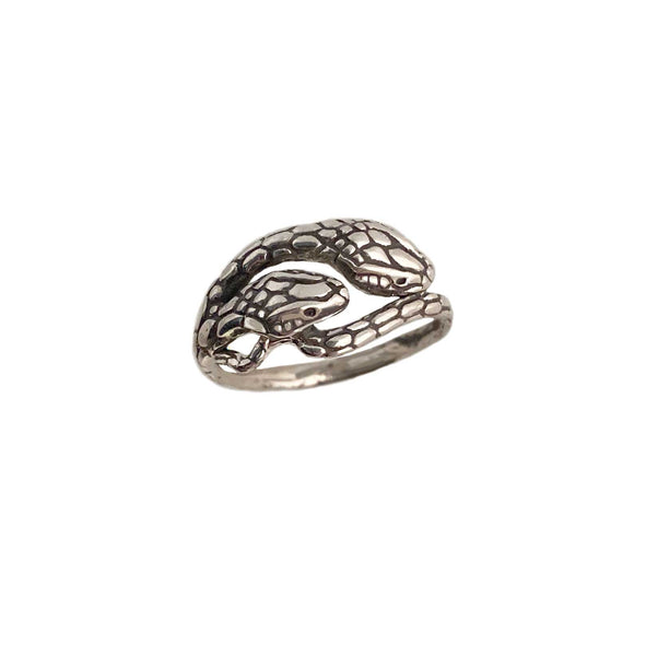 Two Headed Snake Ring- Ready to Ship