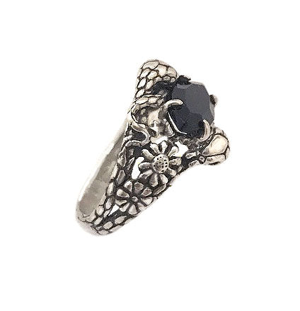 Two Snakes Ring Onyx- Ready to Ship