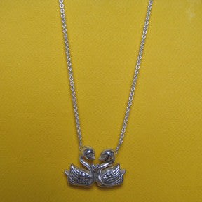 Swans in Love Necklace - Anomaly Jewelry