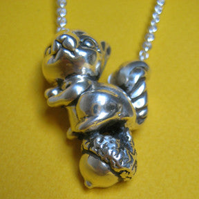 Squirrel and Nut Necklace - Anomaly Jewelry