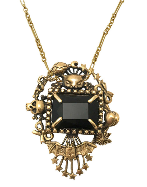 Cornucopia Necklace Wide Onyx- Ready to Ship