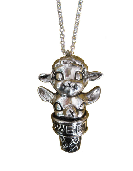 Deer and Lamb Ice Cream Necklace - Anomaly Jewelry