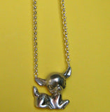 Large Sitting Deer Necklace - Anomaly Jewelry