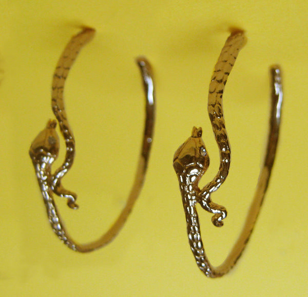 Snake Large Hoops Earrings - Anomaly Jewelry