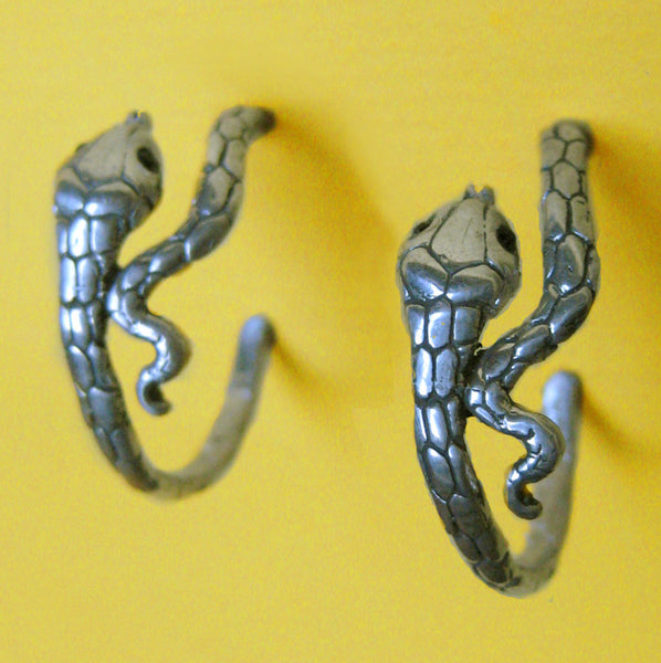 Snake Hoop Earrings Small - Anomaly Jewelry