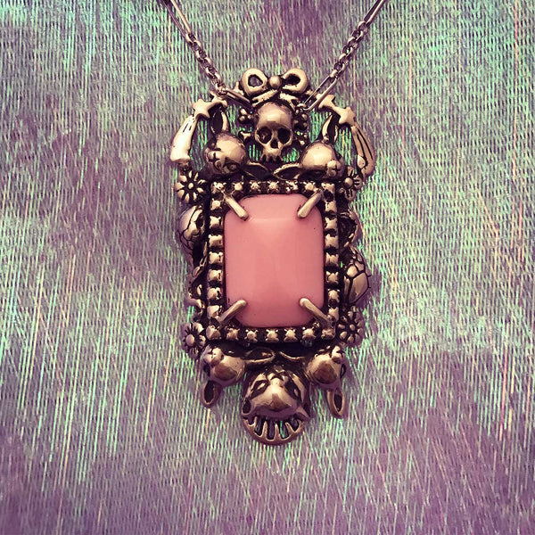 Cornucopia Necklace Tall Pink
