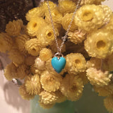 Heart Necklace Turquoise