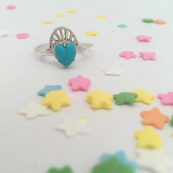 Heart Ring Turquoise