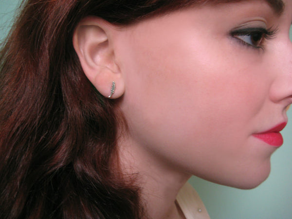 Itty Bitty Feather Earrings - Anomaly Jewelry