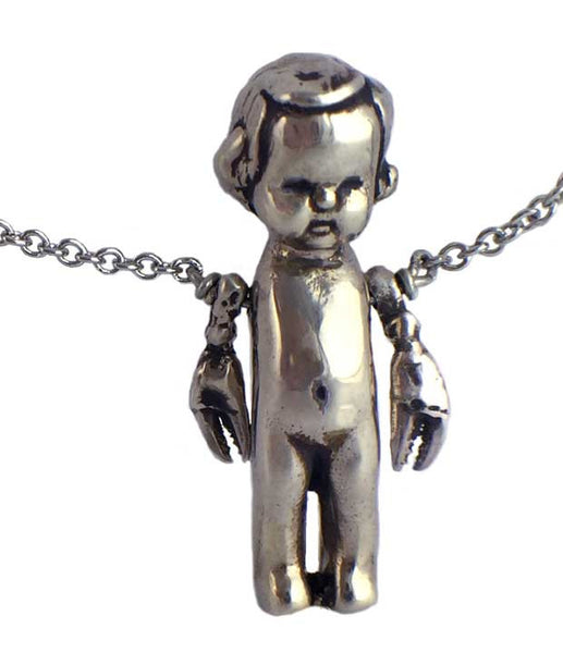 Baby with Lobster Arms Necklace - Anomaly Jewelry