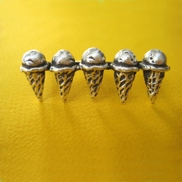 Two Finger Ice Cream Ring - Anomaly Jewelry