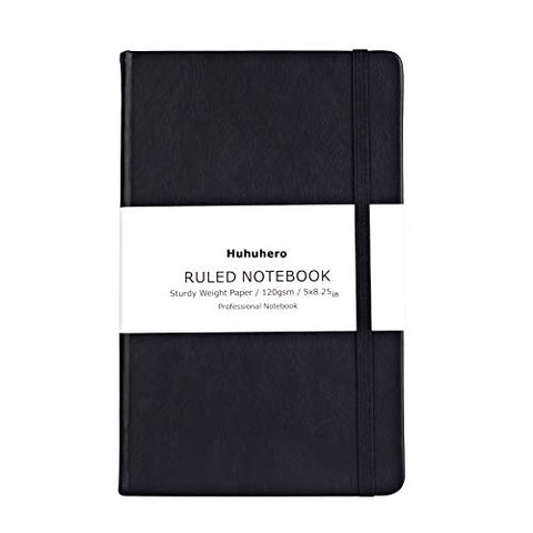 Huhuhero Notebook Journal, Classic Ruled Hard Cover