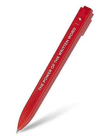 Moleskine Go Pen Ballpoint Pen, 1.0mm Point, Scarlet Red