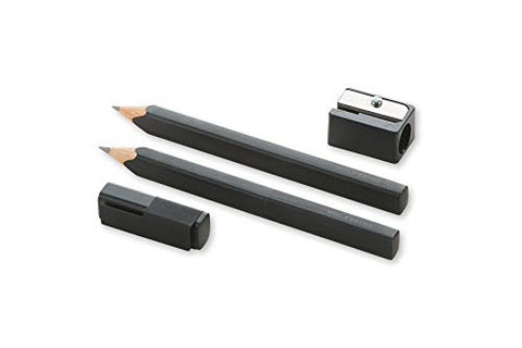 Moleskine Classic Wood Pencil Set w/ Sharpener, 2B Lead