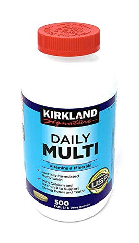 Daily Multi Vitamins & Minerals 500 Tablets Kirkland Signature™