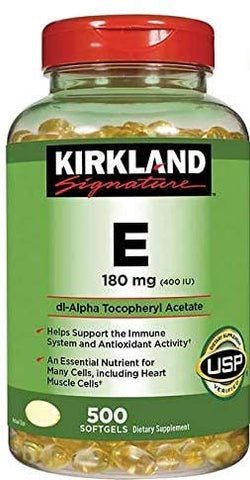 Kirkland Signature Vitamin E 400 I.U. 500 Softgels