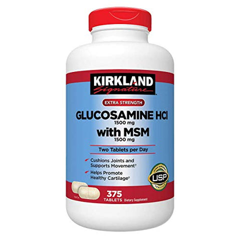 Kirkland Extra Strength Glucosamine HCI with MSM 375 Count