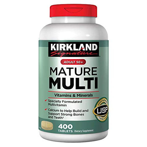Kirkland Signature Adults 50+ Mature Multi, 400 Tablets 1