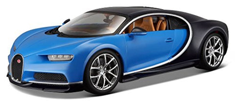 2016 Bugatti Chiron Blue 1/18 Diecast Model Car